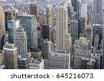 full frame view of the urban... | Shutterstock . vector #645216073