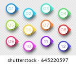 number bullet point colorful 3d ...