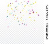 many falling colorful tiny... | Shutterstock .eps vector #645221593
