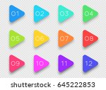 number bullet point colorful 3d ... | Shutterstock .eps vector #645222853