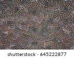 terracotta bricks background   Shutterstock . vector #645222877