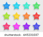 number bullet point colorful 3d ... | Shutterstock .eps vector #645231037