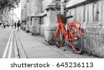 Red Bicycle On The Street ...