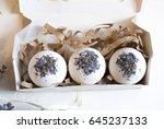 photo bombs with lavender... | Shutterstock . vector #645237133