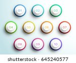 number bullet point 3d pyramid... | Shutterstock .eps vector #645240577