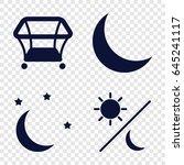 bedtime icons set. set of 4... | Shutterstock .eps vector #645241117