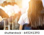 soft focus back university... | Shutterstock . vector #645241393