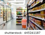 abstract blur people shopping... | Shutterstock . vector #645261187