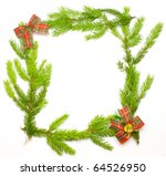 green fresh spruce frame with... | Shutterstock . vector #64526950