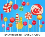 bright blue sugar background... | Shutterstock . vector #645277297