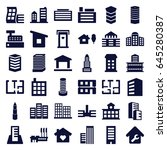 apartment icons set. set of 36... | Shutterstock .eps vector #645280387
