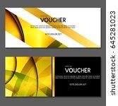 gift voucher. vector ... | Shutterstock .eps vector #645281023