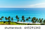 sail boat in the pacific ocean...   Shutterstock . vector #645291343