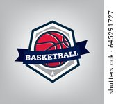 basketball sport logo template... | Shutterstock .eps vector #645291727