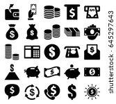 cash icons set. set of 25 cash... | Shutterstock .eps vector #645297643