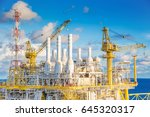 offshore oil and gas central... | Shutterstock . vector #645320317
