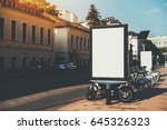 square information board with... | Shutterstock . vector #645326323