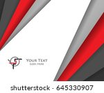 vector card template. colorful... | Shutterstock .eps vector #645330907
