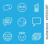 chat icons set. set of 9 chat... | Shutterstock .eps vector #645331387