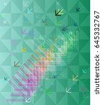 way arrow background icon | Shutterstock .eps vector #645332767