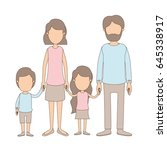 light color caricature faceless ... | Shutterstock .eps vector #645338917