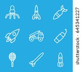 rocket icons set. set of 9... | Shutterstock .eps vector #645341227