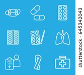 illness icons set. set of 9... | Shutterstock .eps vector #645342043