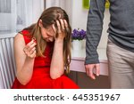 disappointed man returning... | Shutterstock . vector #645351967