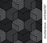 Black And Gray Geometric...