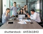 group of asian business people... | Shutterstock . vector #645361843