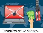 victim hand exchange money to... | Shutterstock .eps vector #645370993