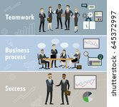 business banner three themes  ... | Shutterstock .eps vector #645372997