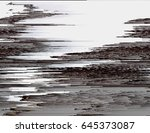 glitched pale background.... | Shutterstock .eps vector #645373087