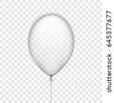 transparent white rubber... | Shutterstock .eps vector #645377677