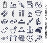 dinner icons set. set of 25... | Shutterstock .eps vector #645386677