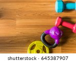 sport background with copyspace.... | Shutterstock . vector #645387907