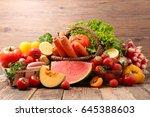 fruit and vegetable | Shutterstock . vector #645388603