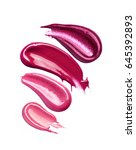 collection of smudged lipsticks ...   Shutterstock . vector #645392893