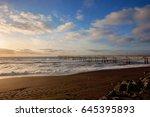 Sunset. Pacific Ocean Coast....