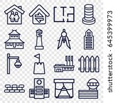 architecture icons set. set of... | Shutterstock .eps vector #645399973