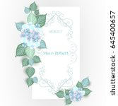 vector flower wedding... | Shutterstock .eps vector #645400657