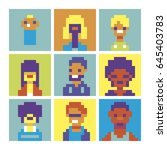 people characters icons set...   Shutterstock .eps vector #645403783
