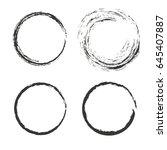 set of 4 isolated grunge frames ... | Shutterstock .eps vector #645407887