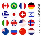 vector illustration of world... | Shutterstock .eps vector #645416887