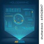abstract future  concept vector ... | Shutterstock .eps vector #645428047
