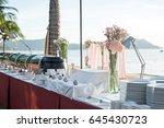 catering buffet setup | Shutterstock . vector #645430723
