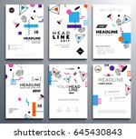 presentation booklet covers  ... | Shutterstock .eps vector #645430843