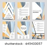 abstract vector layout... | Shutterstock .eps vector #645433057