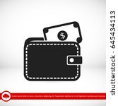wallet with dollars icon ... | Shutterstock .eps vector #645434113