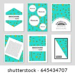 abstract vector layout... | Shutterstock .eps vector #645434707